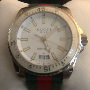 Gucci Chronograph Dive with canvas web band
